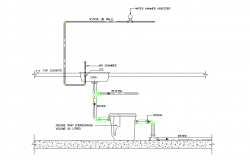 Kitchen sink plan detail dwg file.