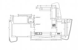Kitchen structure detail 2d view CAD constructive block layout dwg file