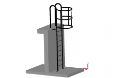Ladder 3d design in cad