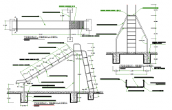 Ladder equipment details dwg file