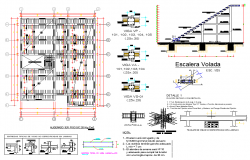 Ladder flown and Beam plan autocad file