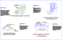 Laminated wood view with detail of cover dwg file