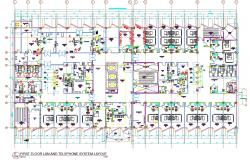 Lan and Telephone System Layout Design Architecture Plan