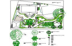 Land sceping garden area detail dwg file