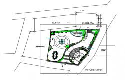 Land sceping garden plan detail dwg detail