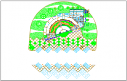Land sceping plan detail dwg file