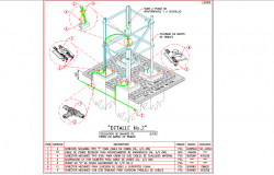 Landing of structure 115kv section autocad file