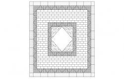 Landscape Pavement design CAD File