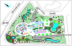 Landscape design of hotel