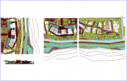 Landscape view of hospital dwg file