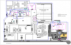 Landscape view of site plan for collage building and area dwg file