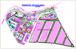 Landscape view of technological educational institute dwg file