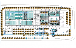Landscaping Industrial building plan detail dwg file