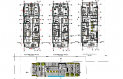 Landscaping and Working commercial plan detail dwg file