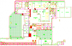 Landscaping and site plan of civil defense industrial plant dwg file