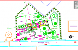 Landscaping commercial plan detail dwg file