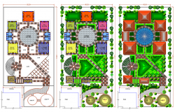 Landscaping design of Garden dwg file