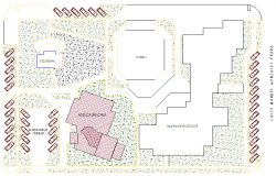 Landscaping details of city back agency dwg file