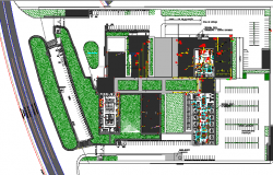 Landscaping details of corporate office dwg file