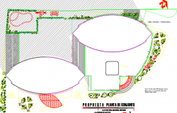 Landscaping details of high rishighre building dwg file