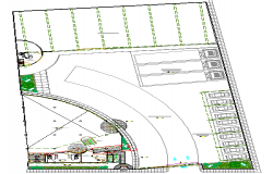 Landscaping details of local commercial market dwg file