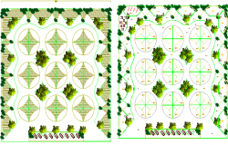 Landscaping details of port market dwg file