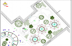 Landscaping details of single story market dwg file