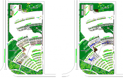 Landscaping details of terminal shopping mall details dwg file