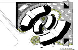Landscaping house plan detail dwg file