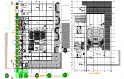 Landscaping layout commercial plan detail dwg file