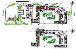 Landscaping layout design drawing of Hospital design