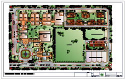 Landscaping layout design of engineering college design drawing