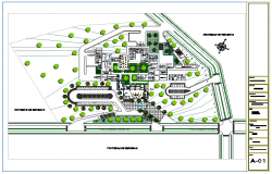 Landscaping layout design of industrial complex design drawing