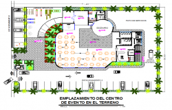 Landscaping layout detail dwg file