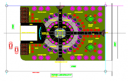 Landscaping layout of Garden urban design drawing