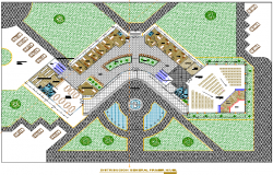 Landscaping layout plan detail dwg file