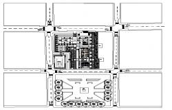 Landscaping layout plan detail dwg file