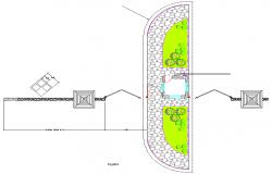 Landscaping plan detail dwg file