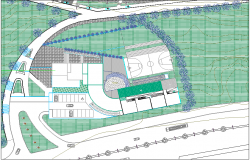 Landscaping plan of building