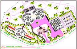Landscaping plot layout detail dwg file