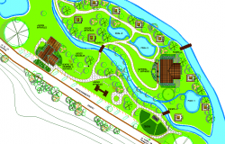 Landscaping view detail dwg file