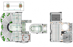 Landscaping with flooring plan detail dwg file