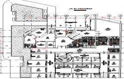 Landscaping with structure details of processing industrial plant dwg file