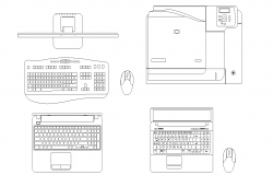 Laptop Peripheral plan detail dwg.