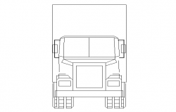 Large truck front cad block design dwg file