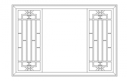 Large wooden window cad blocks design dwg file