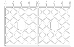 Lattice front elevation design dwg file