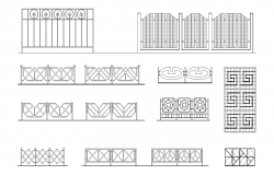 Lattices and fences plan detail dwg.