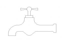 Laundry faucet details dwg file
