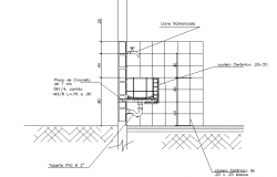 Lavatory section detail dwg file